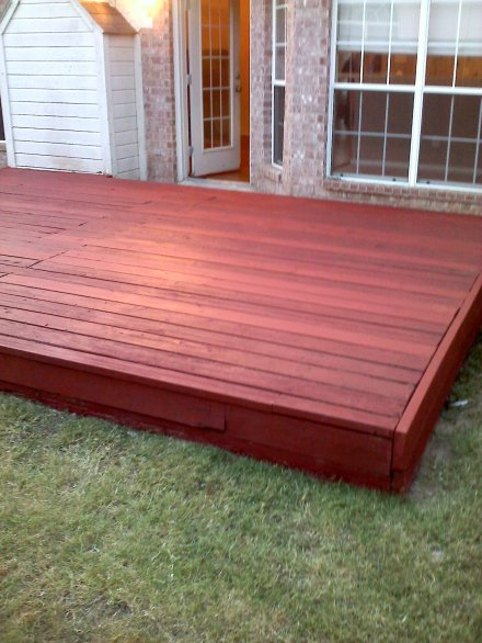 After compeltion of deck restoration